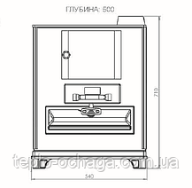 Отопительно-варочная печь DUVAL ЕК 503 F BEKAS РЕТРО, фото 2