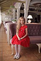 Платье для девочки красное Daga нарядное р.122, фото 1