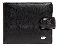 Черное матовое кожаное портмоне