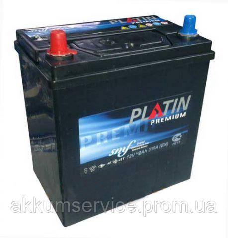Аккумулятор автомобильный Platin Battery Premium 55AH R+ 480A Asia