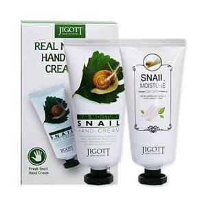 Набор Увлажняющий крем для рук и ног JIGOTT Snail Hand & Foot Cream с муцином улитки, 100 мл+100 мл, фото 2