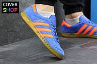 Мужские кроссовки adidas HAMBURG, синие, материал - замша, подошва - полиуретан