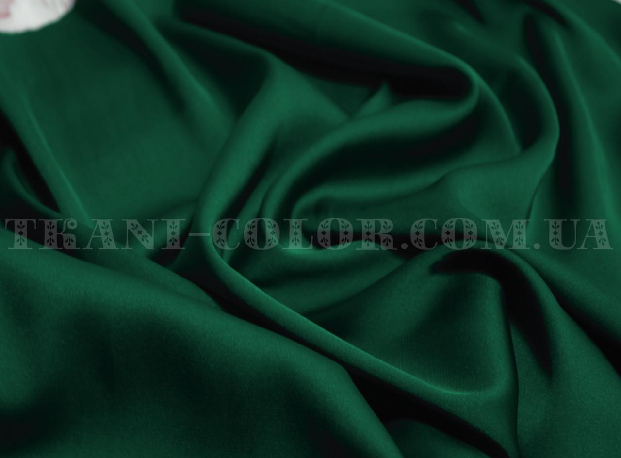 Ткань шелк армани бутылка (темно-зеленый)
