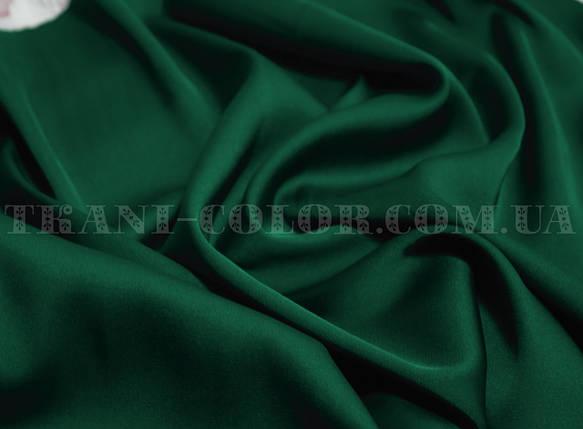Ткань шелк армани бутылка (темно-зеленый), фото 2