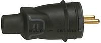Вилка 2К+З прямая16А черный 50196 Legrand Легранд