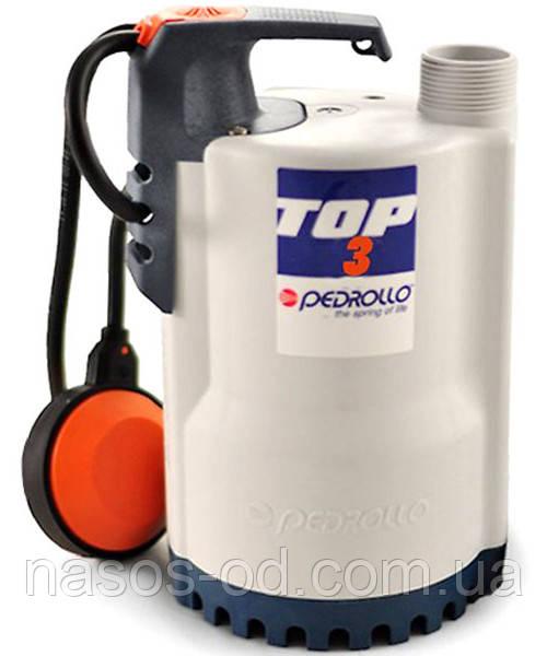 Дренажный насос Pedrollo TOP-3 садовый для колодцев 0.55кВт Hmax10м Qmax260л/мин