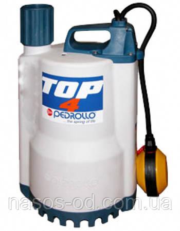 Дренажный насос Pedrollo TOP-4 садовый для колодцев 0.75кВт Hmax12м Qmax320л/мин