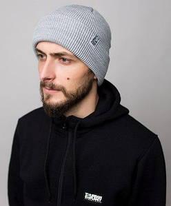 Мужская зимняя шапка Urban Planet светло-серая C42 MEL