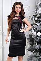 Женское платье черное с открытой спинкой