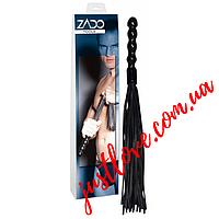 Плеть многохвостая Zado Leather Whip With Dildo Zado Leather Whip With Dildo