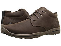 Ботинки Сапоги (Оригинал) SKECHERS Relaxed Fit Harper - Melden Chocolate  Leather a51376d5ad4