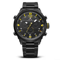 WEIDE WH6303 деловые наручные часы для мужчин Жёлтый