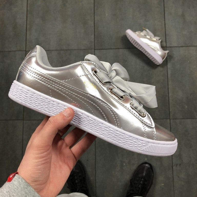 Женские кроссовки Puma Basket Silver - Компания