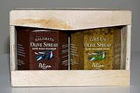 Пасты каламон и оливковая.Подарочная деревянная упаковка.2шт.