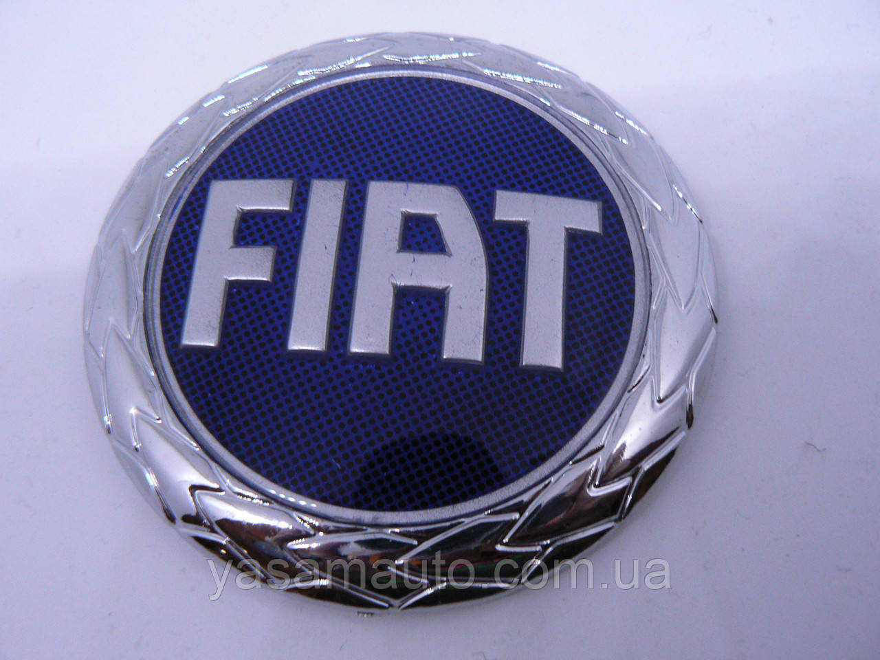 Эмблема z Fiat синяя диаметром 74,5мм маленькая Фиат в крапинку наклейка на авто