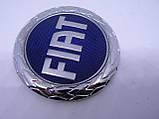 Эмблема z Fiat синяя диаметром 74,5мм маленькая Фиат в крапинку наклейка на авто, фото 3