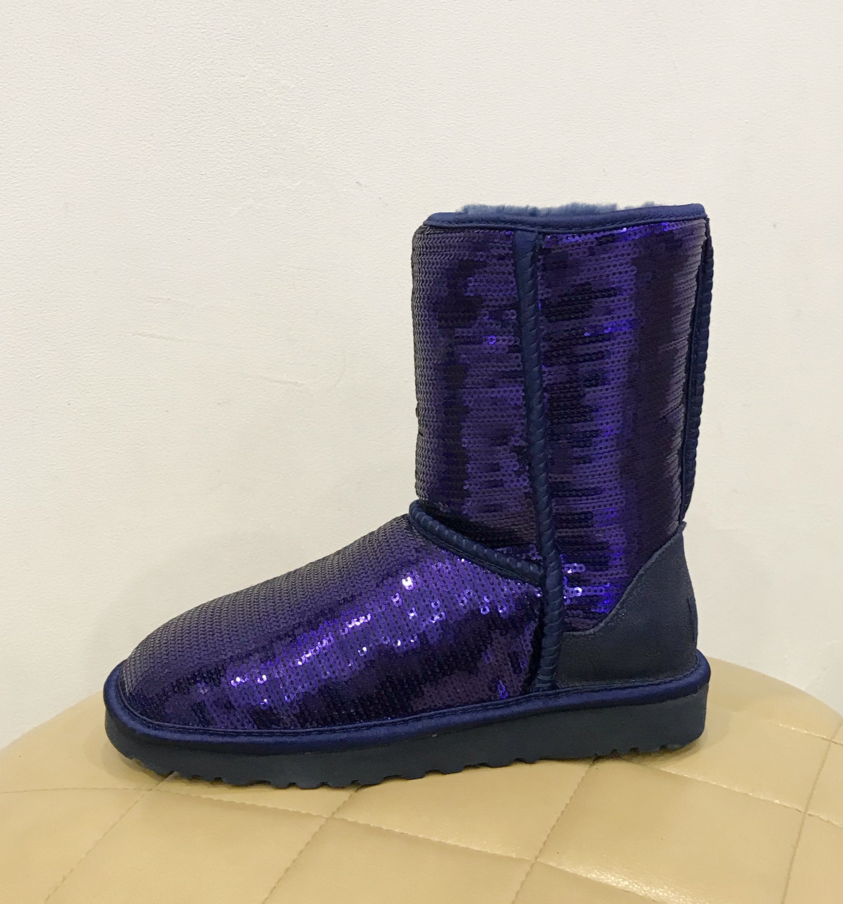 UGG Australia Classic Short Sparkles Purple Угги классические с пайетками фиолетовые