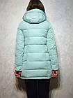 Короткий зимний пуховик с  капюшоном ENYI  Размеры в наличии 42-50, фото 8