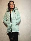 Короткий зимний пуховик с  капюшоном ENYI  Размеры в наличии 42-50, фото 5
