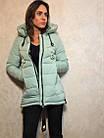 Короткий зимний пуховик с  капюшоном ENYI  Размеры в наличии 42-50, фото 6