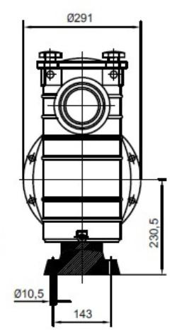 габаритные размеры и подключение насоса Hayward HCP38253E1