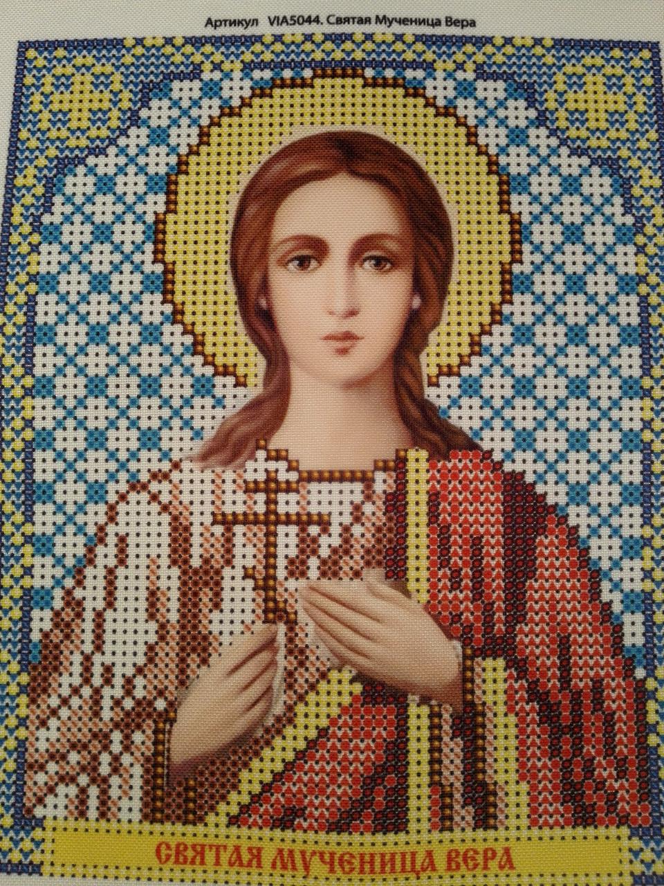 Набор для вышивки бисером икона Святая Мученица Вера VIA 5044