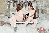 Домашній костюм піжама Рожева з оленем