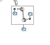 Стойка стабилизатора переднего, правая