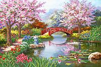 Японский сад схема на атласе для вышивки бисером
