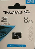 Карта памяти микроSDHC Team 8 гб класс 4 без адаптера