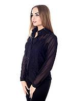 Стильная женская блуза из шифона и кружева