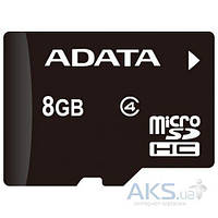 Карта памяти ADATA 8GB microSDHC class 4 (без адаптера) (AUSDH8GCL4-R)