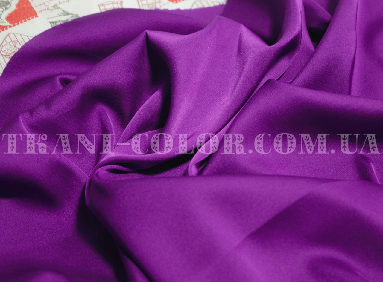 Ткань шелк армани баклажановый