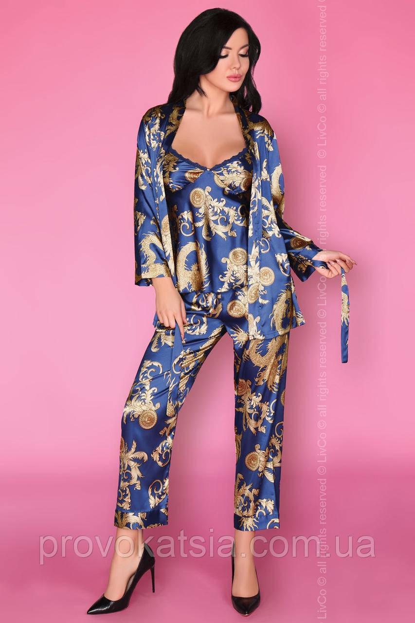 682cc9b4123ee Атласная пижама тройка Nohemi Livia Corsetti (Ливия Корсетти) -  Интернет-магазин эротического и