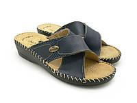 Женские шлепанцы эко кожа, синий (35-40), (36-41) домашняя и прогулочная обувь