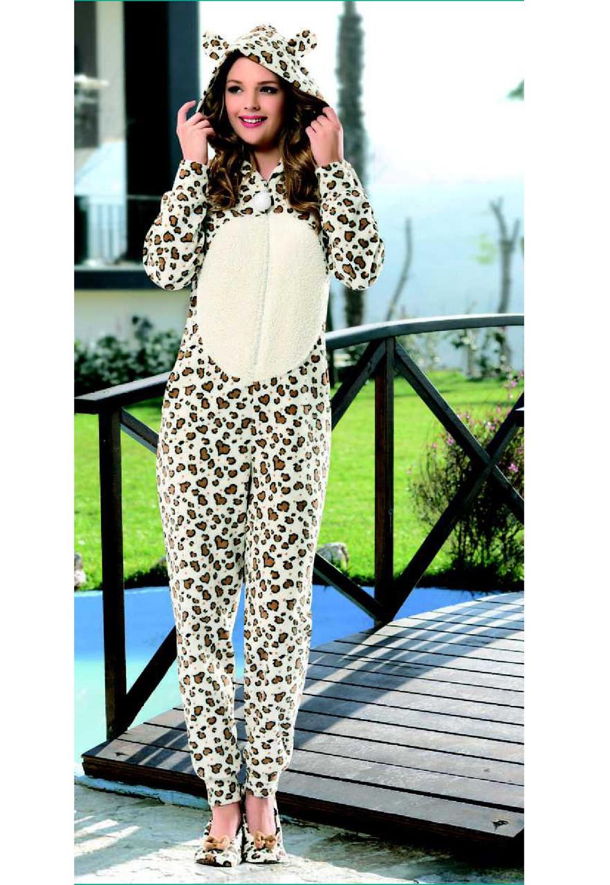 Домашняя одежда Dika Пижама женская 4619 коричневый М - Интернет-магазин