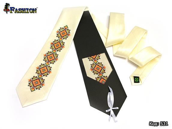 Вышитый галстук Олег, фото 2