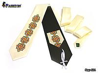Вышитый галстук Олег