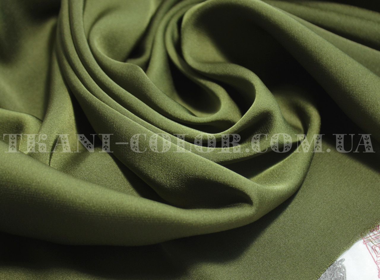 Ткань шелк армани оливковый