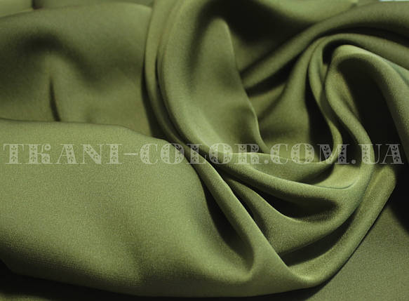 Ткань шелк армани оливковый, фото 2