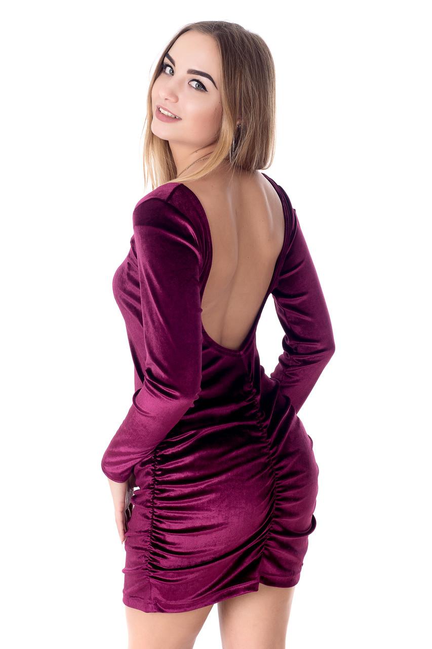 Женское платье из бархата