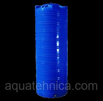 Ємність 1000 літрів, вертикальна, двошарова - 80 х 223 см вузька Ротоевропласт