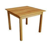 Стол детский без ящиков из натуральной древесины (81112) h=460/520/580 мм