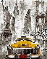 Раскраска для взрослых Нью-Йоркское такси (AS0091) 40 х 50 см ArtStory