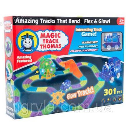 Паровозик Томас музыкальная дорога светящаяса, Track CAR Авто-трек Меджик трек Magic Tracks конструктор Томас, фото 2