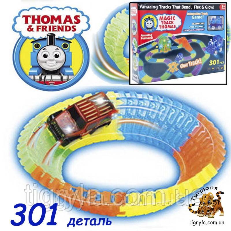 Паровозик Томас музыкальная дорога светящаяса, Track CAR Авто-трек Меджик трек Magic Tracks конструктор Томас