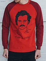 Зимний красный свитшот Staff pablo KKK0010 с начесом