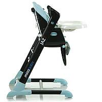 Детский стульчик для кормления+ укачивающий центр Mioobaby-Baby Jazz Голубой- Черный