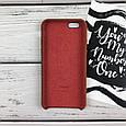 Чехол накладка на iPhone 6/6s Apple Case Silicone copy коричневый, фото 2