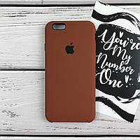 Чехол накладка на iPhone 6/6s Apple Case Silicone copy коричневый